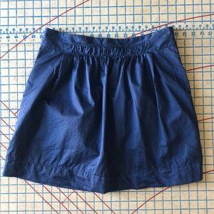 J. Crew Blue Poplin Gathered Skirt 4